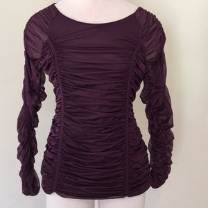 Wolford Ruched Purple Top, Medium